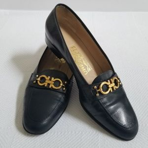 Salvatore Ferragamo Navy Blue Classic Loafer SZ 7